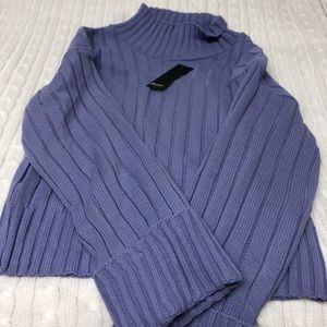Purple high neck sweater